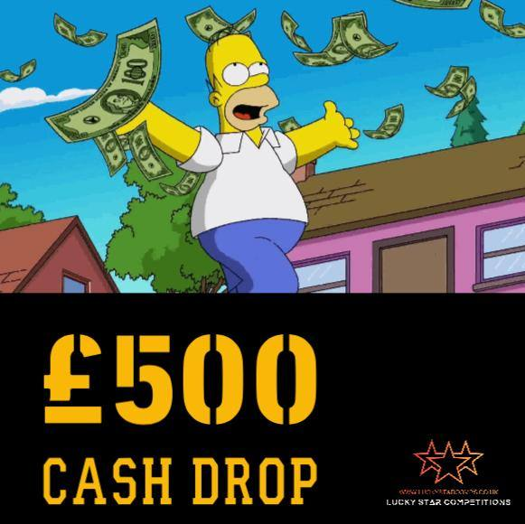 Entry List - Win £500 Cash Drop - Paid into your bank!