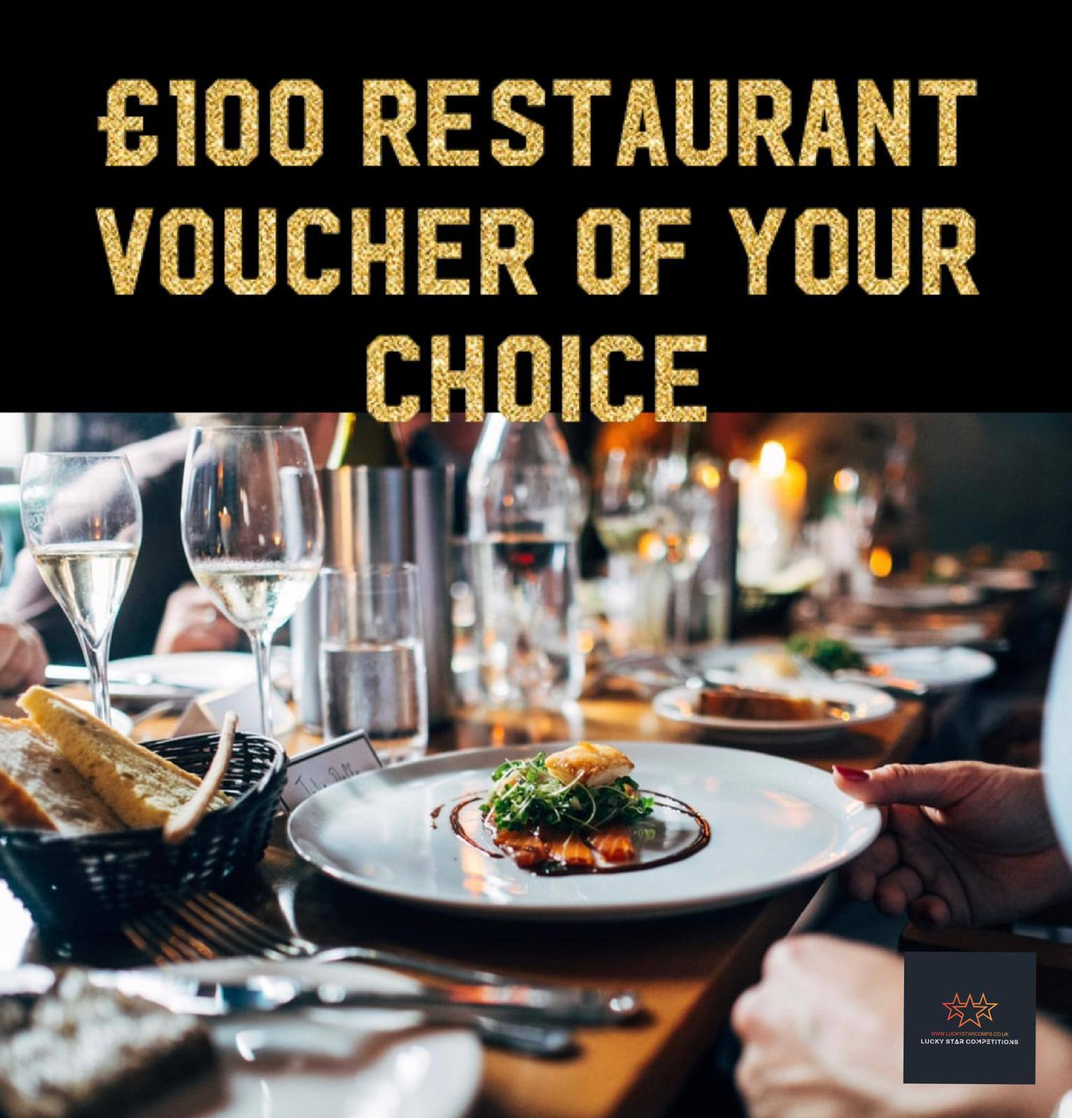 Entry List - Win £100 Restaurant Voucher of Your Choice