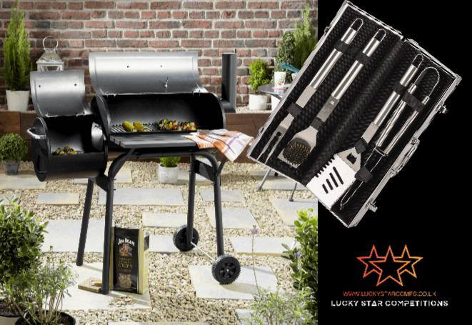 Entry List - Win Houston Smoker BBQ Grill and Stainless Steel Accessory Bundle