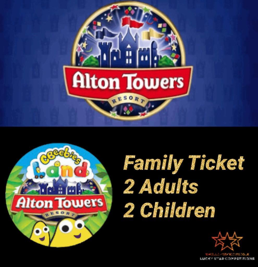 Entry List - Win Alton Towers Family Day Out