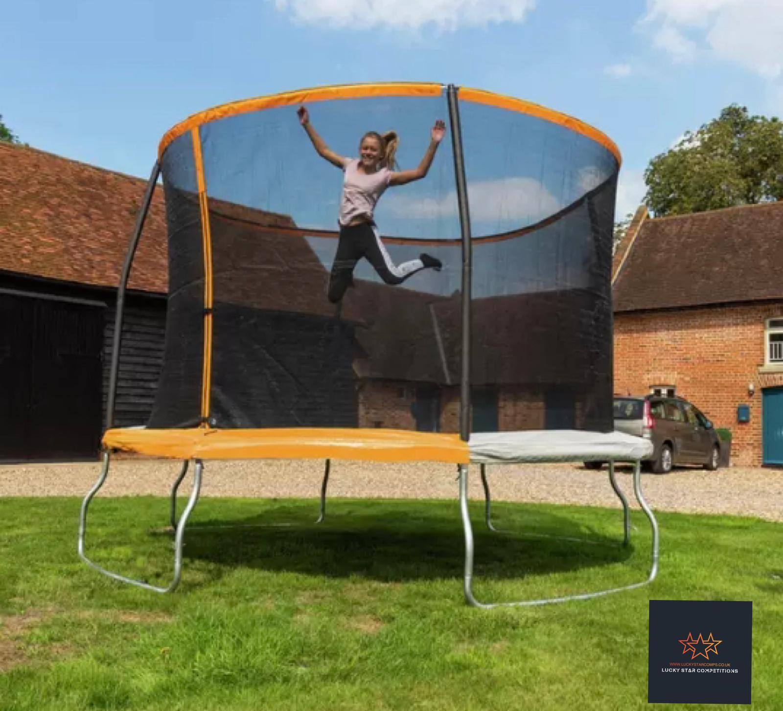 Entry List - Win 10ft Outdoor Trampoline with Enclosure