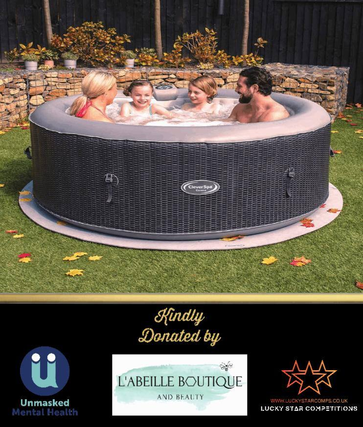 Entry List - Win CleverSpa Mia 4 Person Hot Tub (All Proceeds Donated to Unmasked Mental Health)